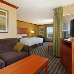 hotel suite with king bed